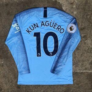 Kun Aguero Manchester City Soccer Jersey